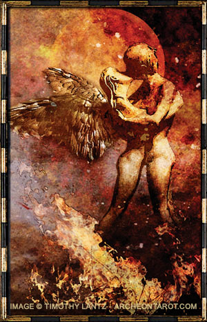 """Lovers Card"" from Archeon Tarot"