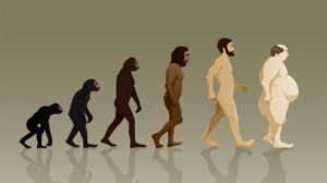 Man-from-chimp-to-caveman-to-fat-lard-ass