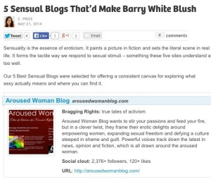 ArousedWoman Blog Named a Top 5 Blog for Sexuality Advice & Relationships