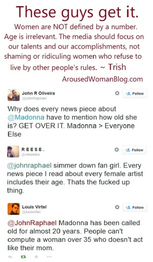 Madonna and How the Media Mocks Women's Age - Twitter Convo on 11-30-2014