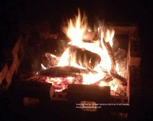 Yule log fire for Winter Solstice 2014 by Trish Causey